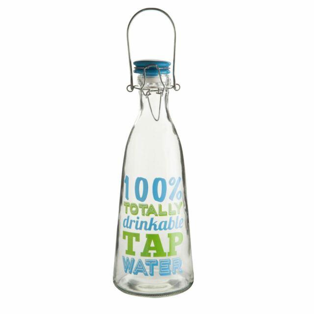 Flip Top Glass Milk Bottle
