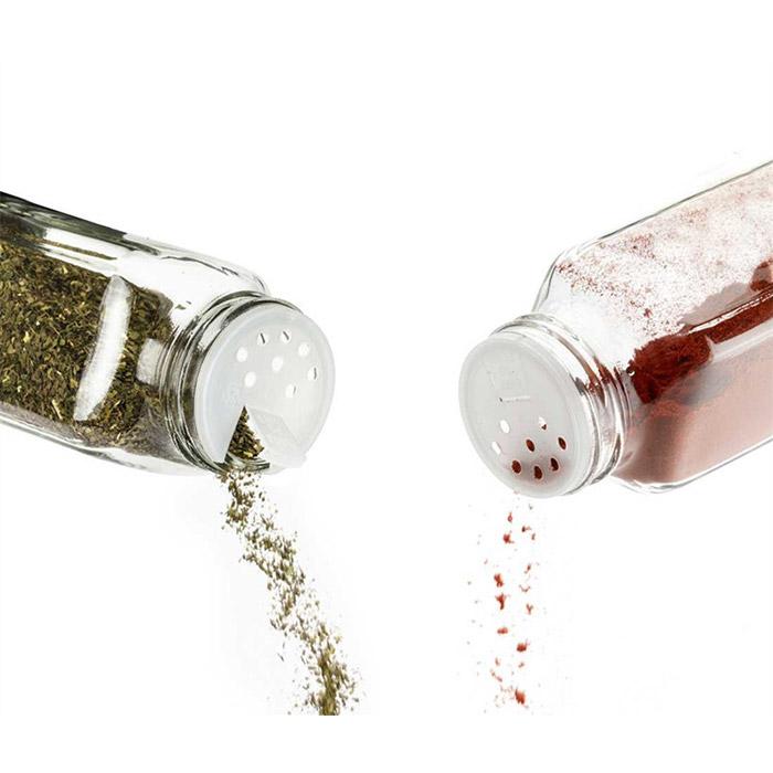 Square Glass Spice Jar