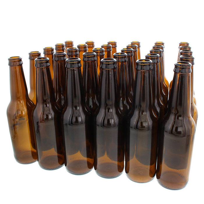 Long Neck Amber Beer Bottle