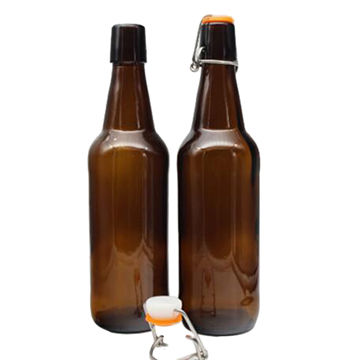 Swing Top Glass Amber Beer Bottle