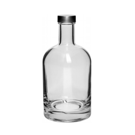 Glass Vodka Bottle with Cork