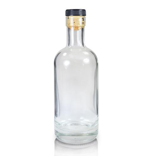 Glass Vodka Bottle with Cork