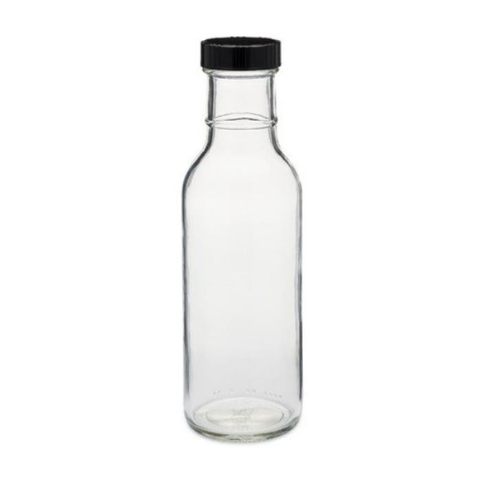 12oz Ring Neck Glass Sauce Bottle