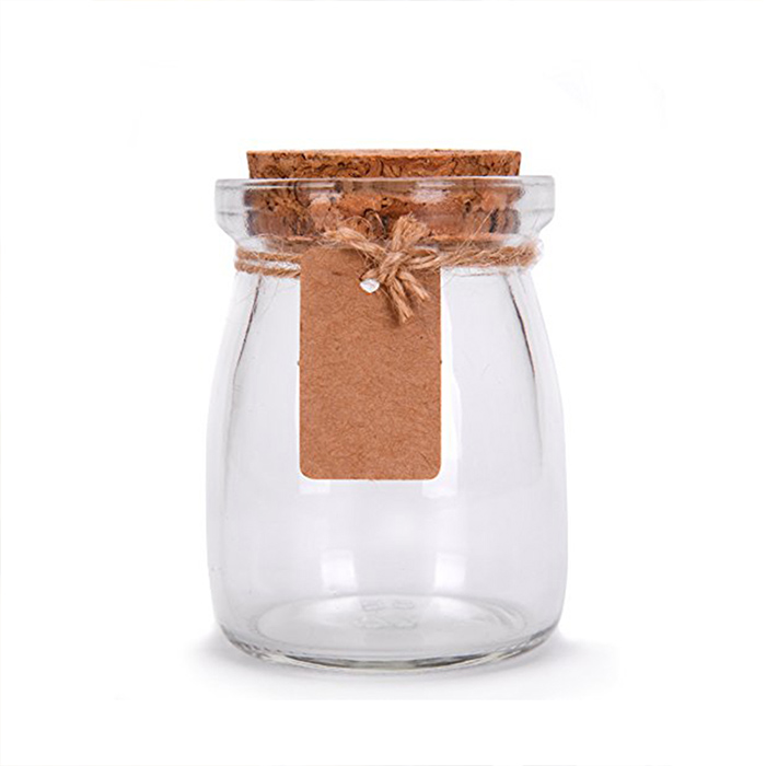 Pudding Glass Jar with Cork