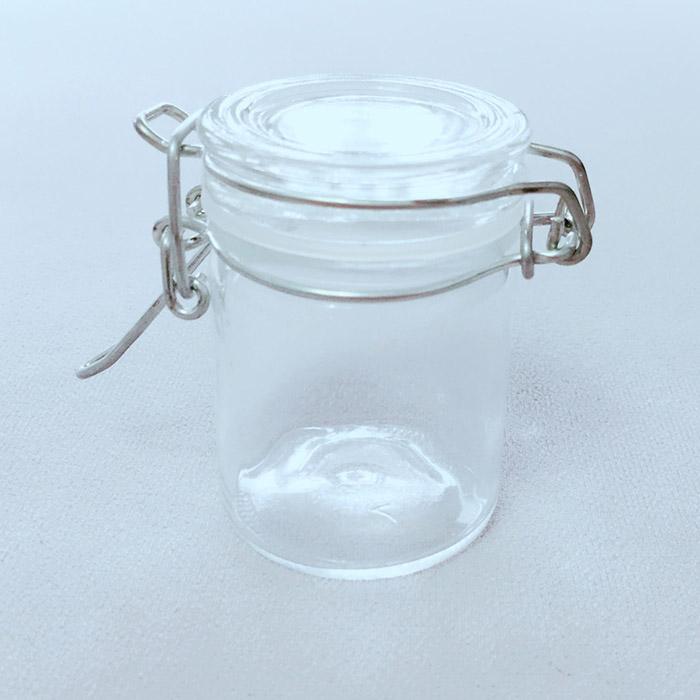 Flip Top Glass Jar