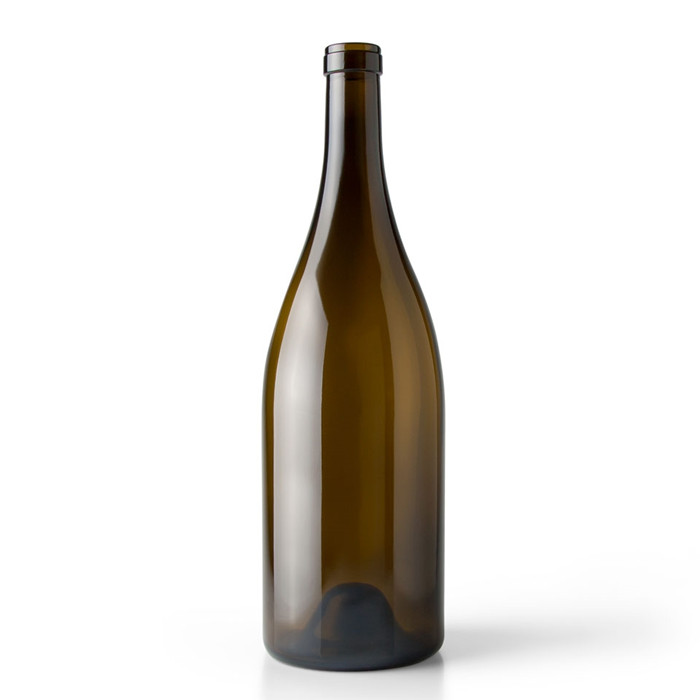 Green Glass Wine Bottle with Cork