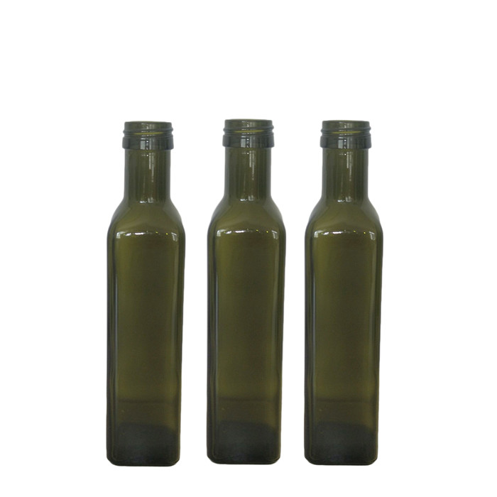 250ml Square Green Oil Bottles