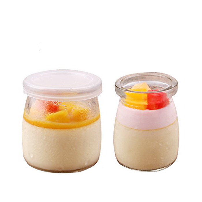 Clear Pudding Glass Jar