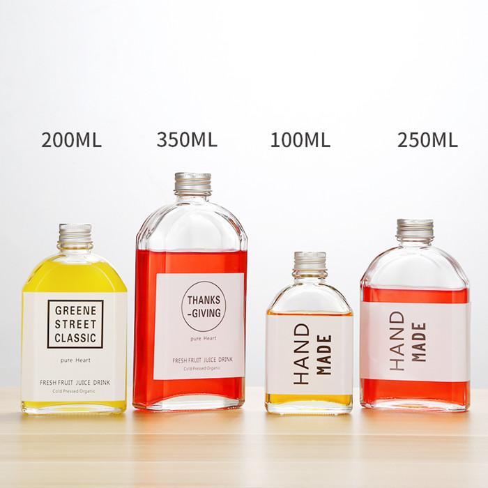 Flint Glass Bottle with Lid