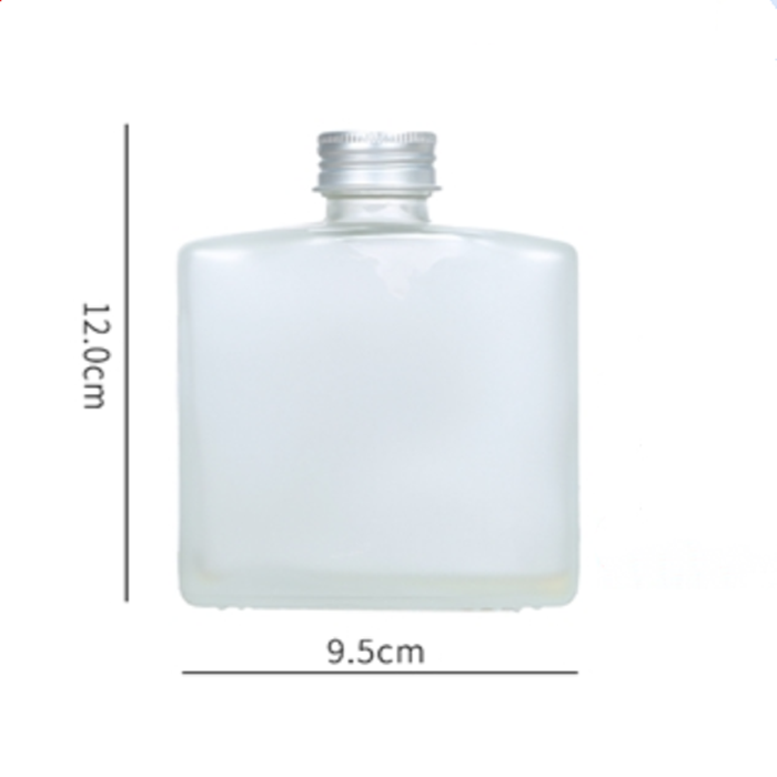 Frosted Square Glass Juice Bottle