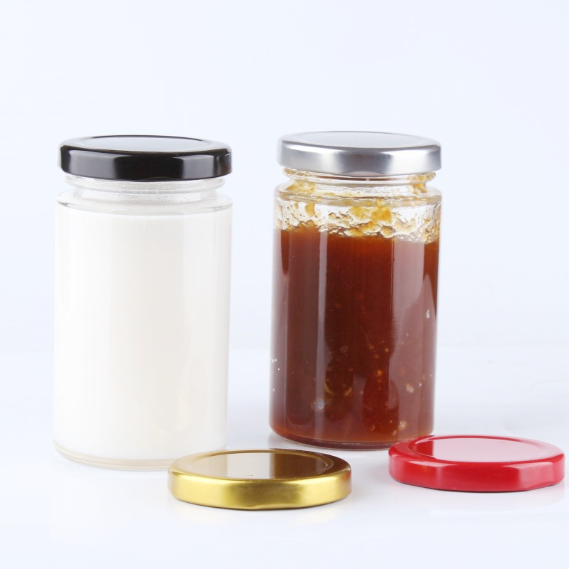Round Glass Straight Sided Jars