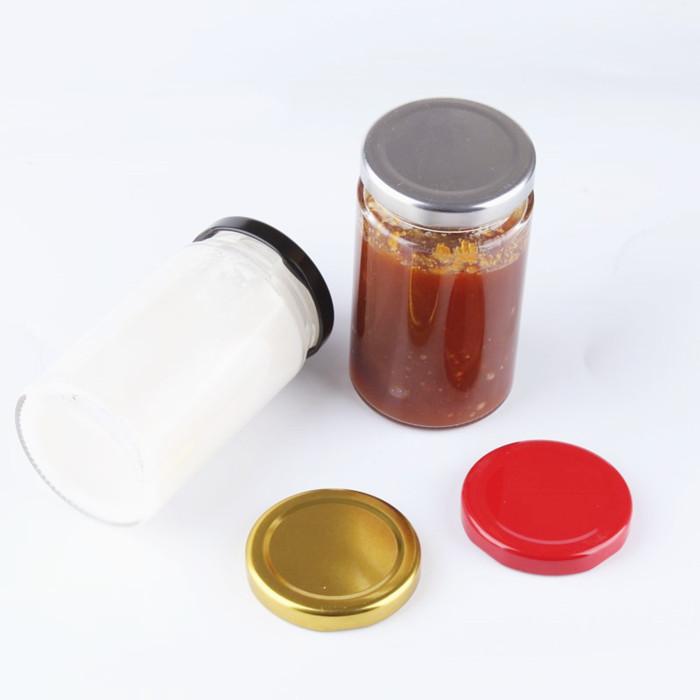 Round Glass Straight Sided Jars