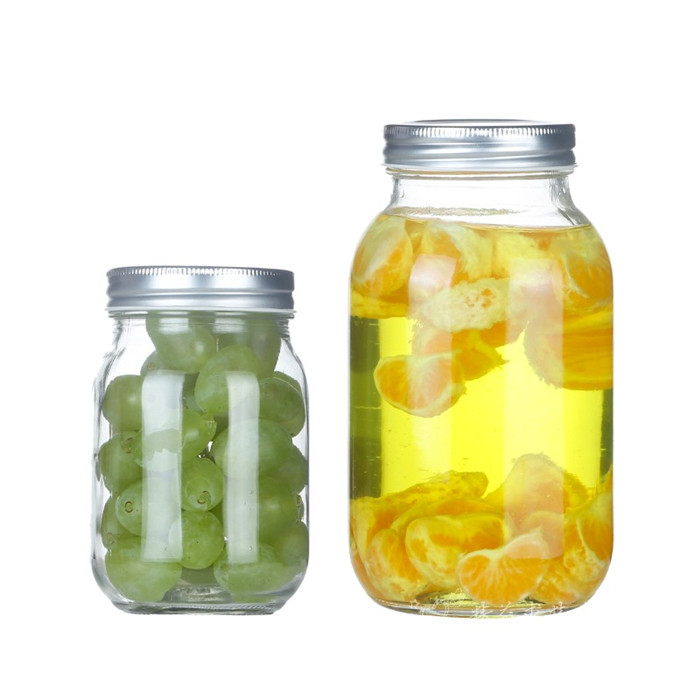 Clear Mason Glass Jar
