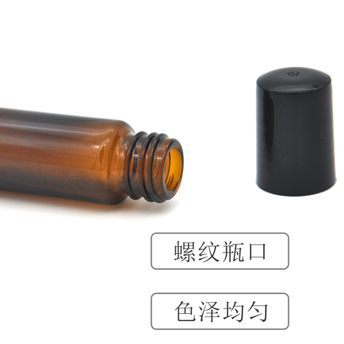 10ml amber glass roll on bottle
