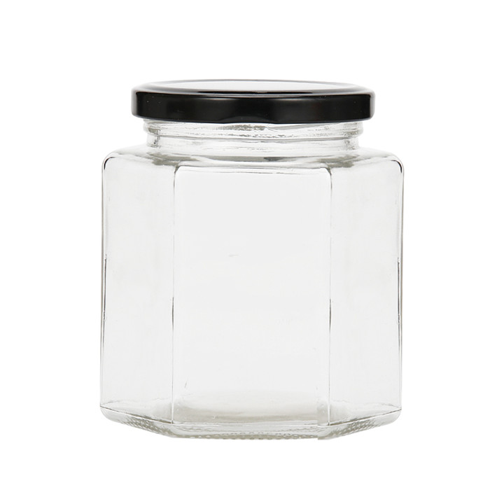 380ml Hexagonal Glass Jar