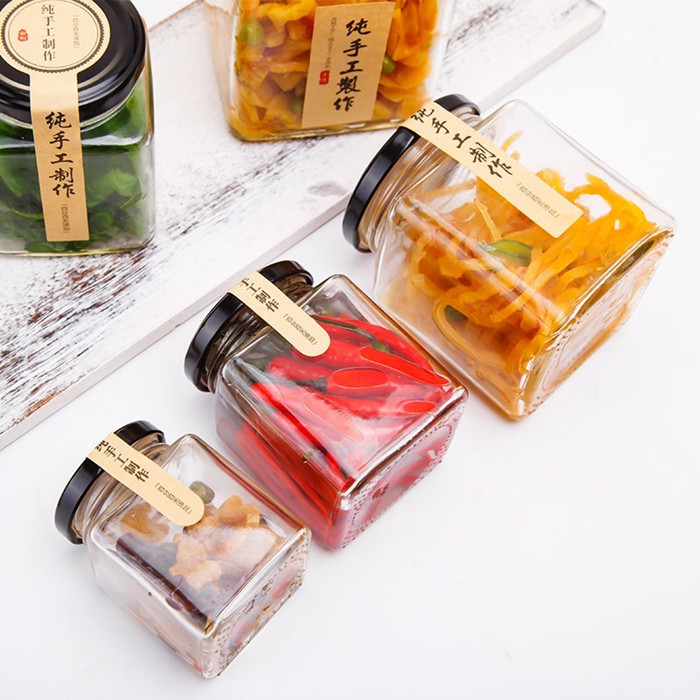 100ml Glass Square Jar