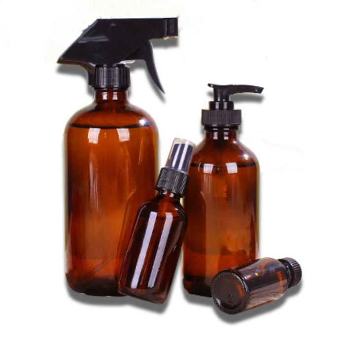 Amber Spray Glass Bottles 16oz