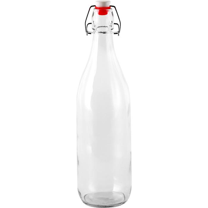 Clear Swing Top Glass Bottle