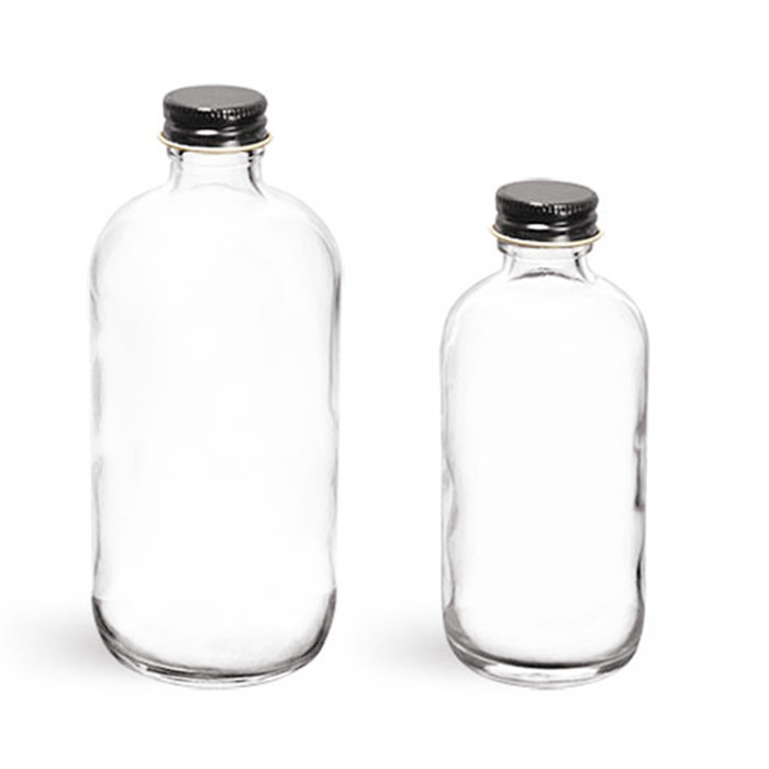 16oz Boston Round Glass Bottle