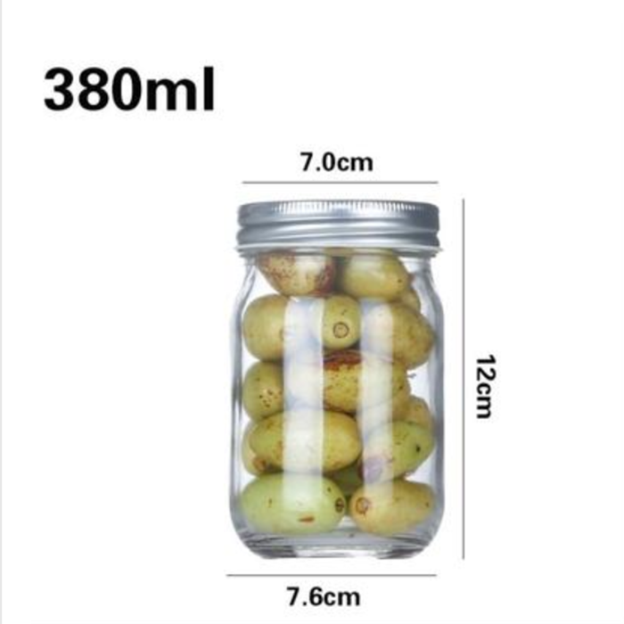 Clear Mason Glass Jar