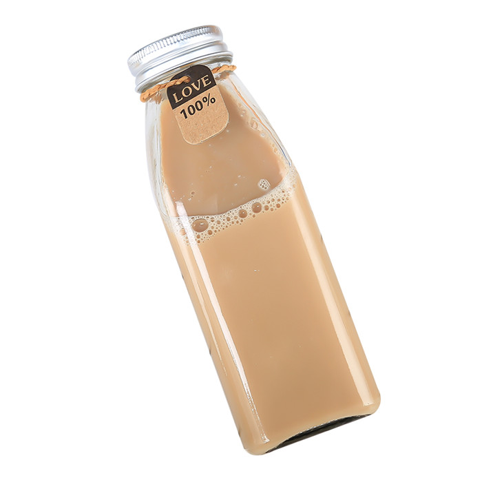 Square Glass Milk Bottle