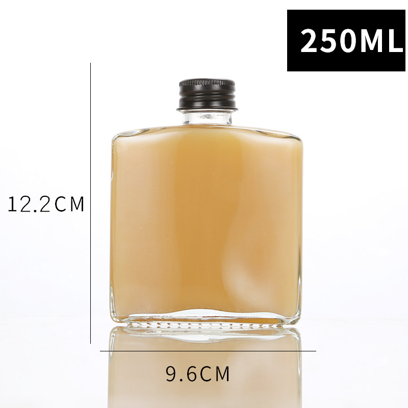 Square Clear Glass Coffee Bottle