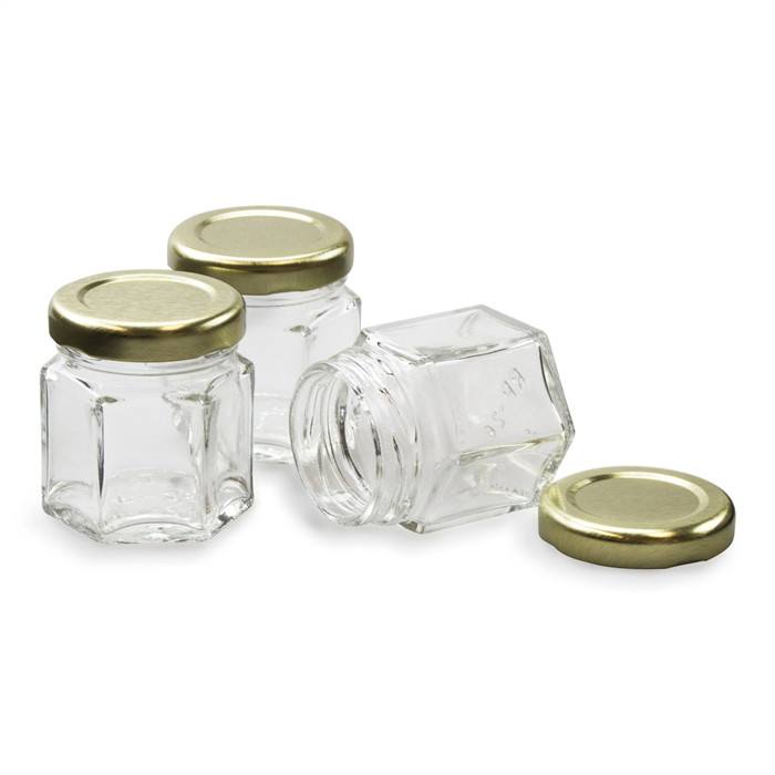 1.5oz Hexgon Glass Jar