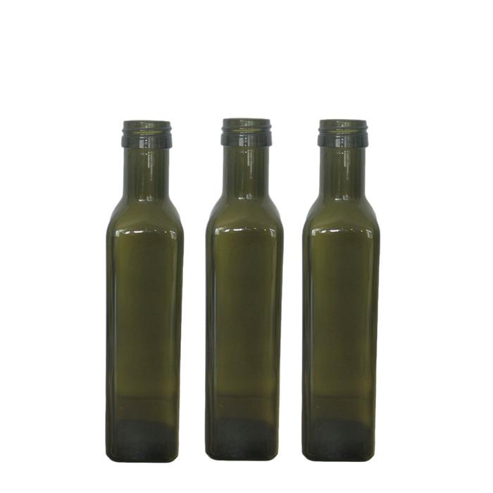250ml Square Green Oil Bottles