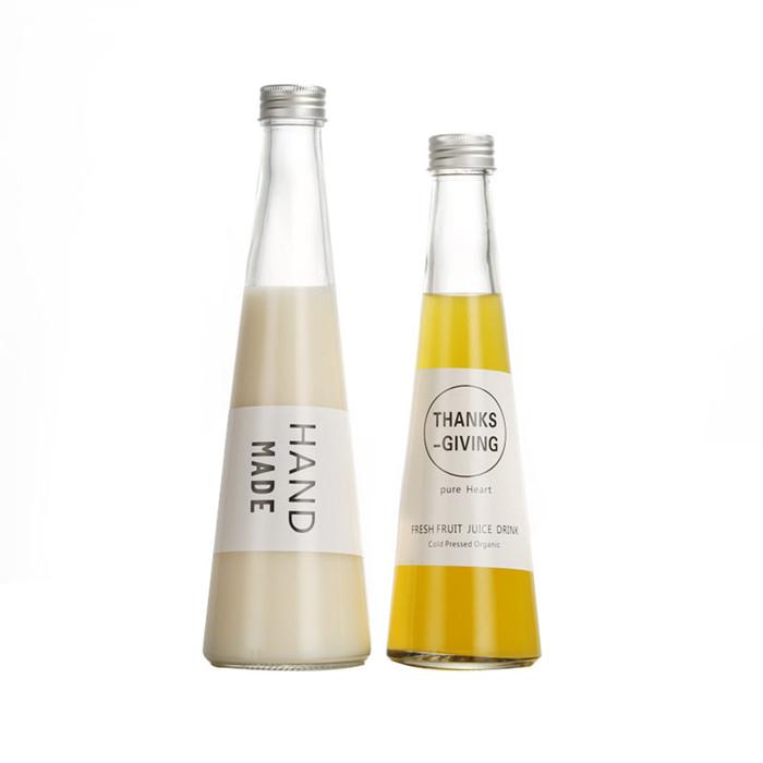 Triangle Glass Juice Bottle