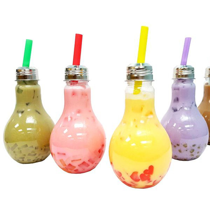 Clear Bulb Light Glass Bottle