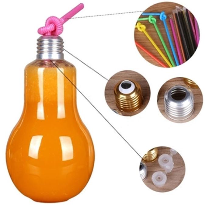 Clear Bulb Light Glass Bottle