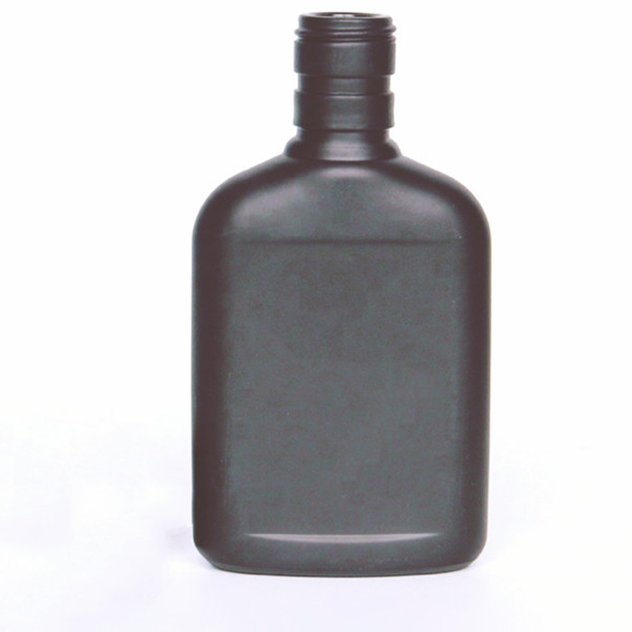 Glass Matte Black Coffee Bottle