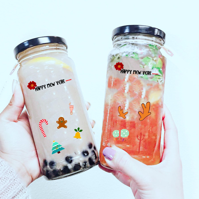 25oz Glass Jar For Milk Tea Ice Cream Factory China