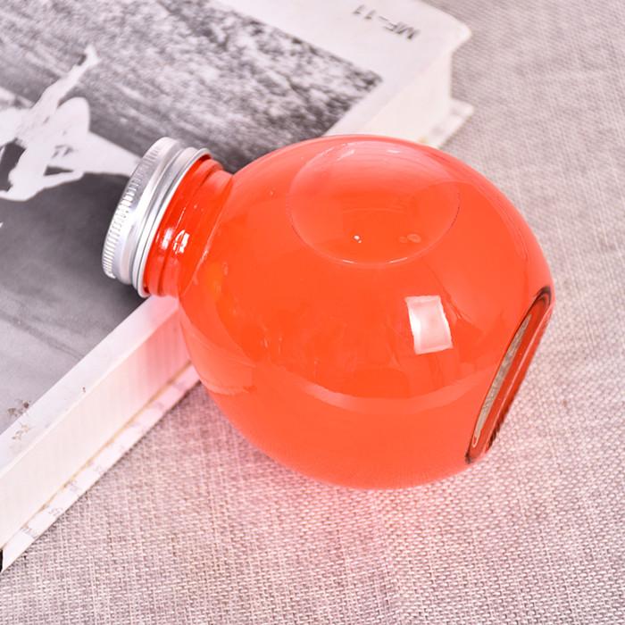300ml Ball Round Glass Bottles for Boba Tea