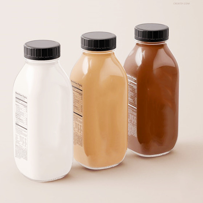 ROPP glass juice bottle 16oz