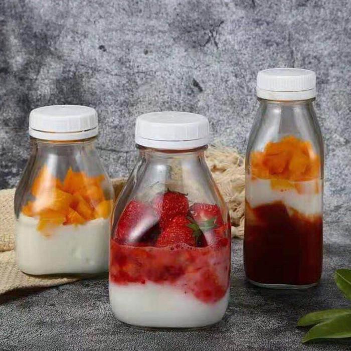 Big Glass Juice Bottle Tamper Evident Lid