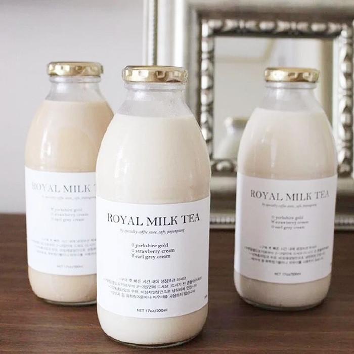 300ml 500ml glass juice milk bottle lug cap