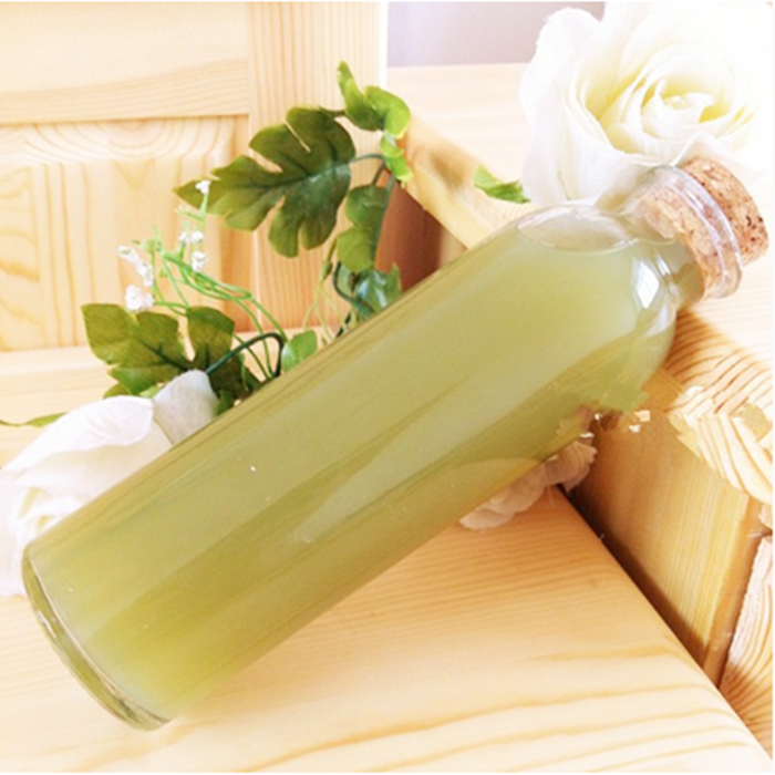 Bubbly tea boba glass bottle with cork