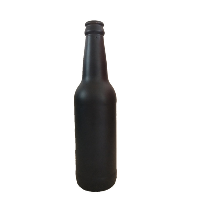 Matte Black Frosted Glass Beer Bottle 330ml