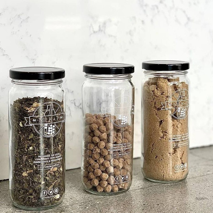 500ml Reusable Boba Milk Tea Glass Jars