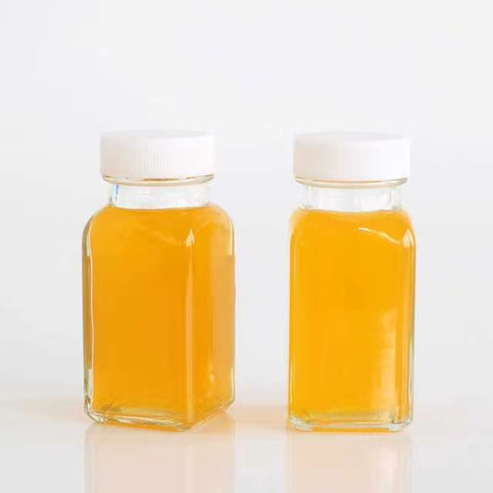 2oz 60ml French square juice glass bottles