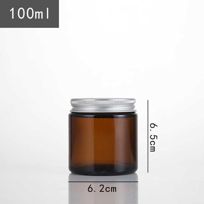 Amber glass jar 100ml 200ml