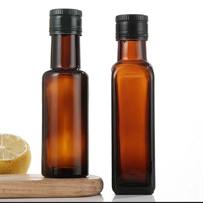 Antique color 100ml olive oil glass bottles