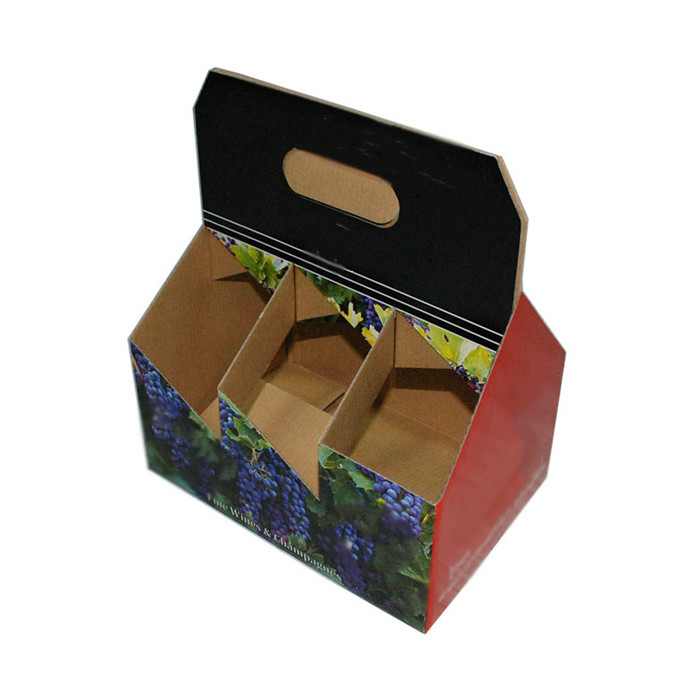 Juice bar carrying away customized boxes 6 pieces per case