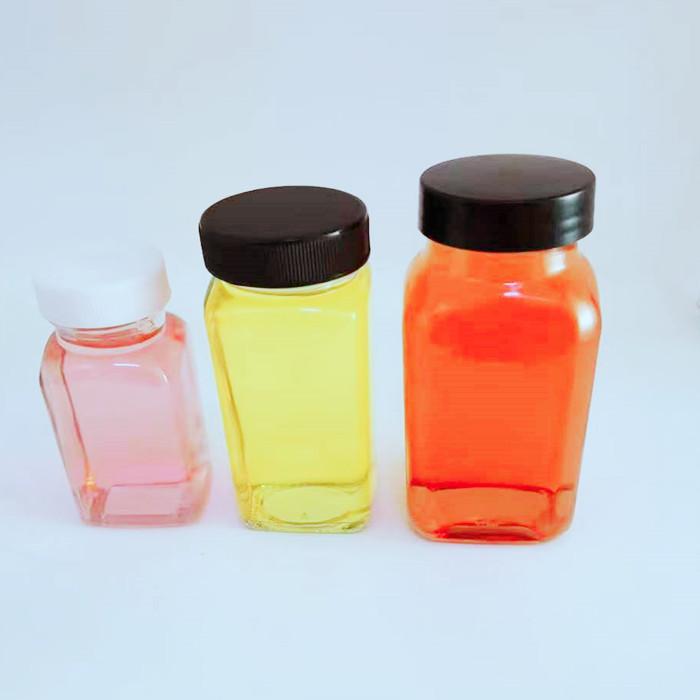 2.5oz 6oz 180ml french squre glass bottle