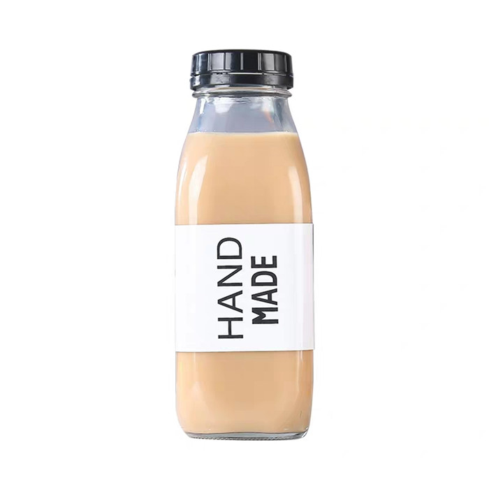 10oz 300ml Juice Milk Square Glass Bottles