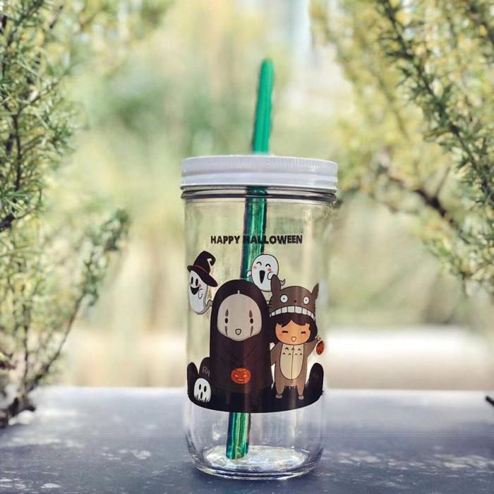 Bubble Tea Mason Jar 24oz
