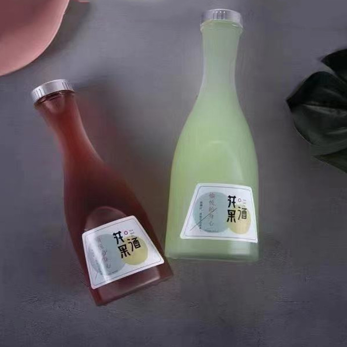 2021 New 500ml Glass Bottles with Cork Frosted Bottles