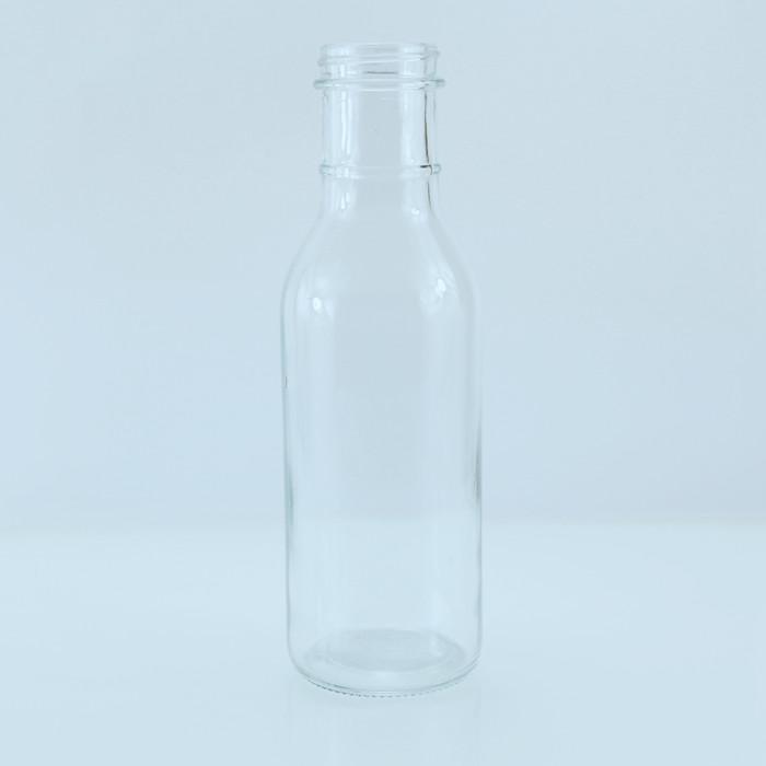 12oz 350ml Ring Neck Chili Sauce Glass Bottle Metal Cap