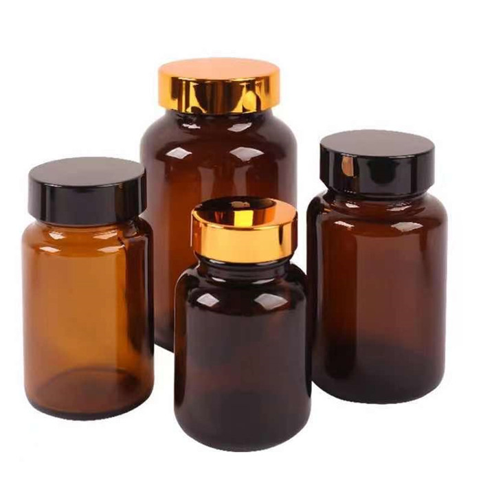 Amber Glass Pills Bottle 80CC 100CC